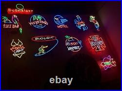 15 Neon Signs Various Vintage COMPLETE COLLECTION LOOK at PHOTOs