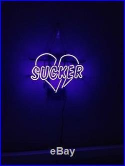 17x14Vintage Love Sucker Neon Sign Light Living Room Wall Hanging Handcraft