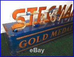 1930's Stegmaier Beer RARE Steel Vintage Glass Neon Tavern Sign