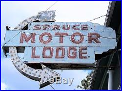 1930s ART DECO ORIGINAL VINTAGE ANTIQUE ADVERTISING DOUBLE SIDED HOTEL NEON SIGN