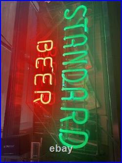 1940s Standard Beer Vintage Neon Sign Cleveland Ohio