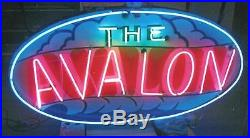 1950's old neon sign AVALON APTS double sided all working Wildwood NJ vintage