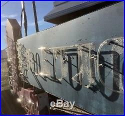 1950s Painted Aluminum Neon Restaurant Grill Pub Bar Sign Vintage