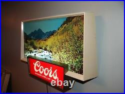 1950s Vtg Coors Beer Lighted Motion Sign Lamp Golden Colorado Neon Products Inc