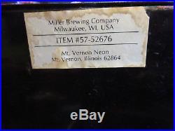 1989 Vintage Miller Lite Neon Beer Sign 26 x 19 working! Brewing Milwaukee WI