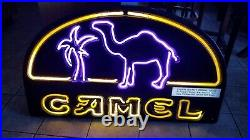 46x27 Large Neon Camel Cigarette Tobacco Vintage Joe Pipe
