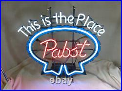 80s Pabst Blue Ribbon Beer PBR This is the Place REAL VTG NEON light up sign
