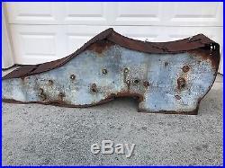 ANTIQUE Ca. 20s-30s 6' Vtg Large SHOE REPAIR NEON SIGN Cobbler Advertising 72