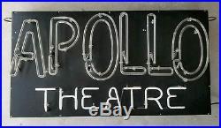 Antique NEON SIGN APOLLO THEATRE Original Vintage Theater Advertising Business