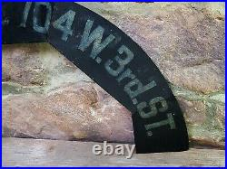 Antique vtg Metal Advertising NEON CLOCK TOPPER SIGN Aztec Coca-Cola Chester PA