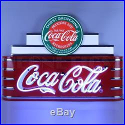 Art Deco Marquee Coca Cola Banner Vintage Neon Sign Steel Can 39 by 28 by 7