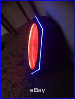 Art Deco Neon Clock Sign Amazing Shape! Vintage! Found In Storage And Works