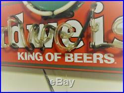 BUDWEISER Vintage Hanging Neon Sign