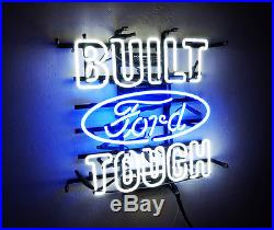 BUILT TOUCH FORD Neon Sign Sport Racing Club Pub Light Auto Shop VIntage Beer