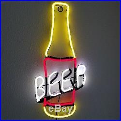 Bar Light Beer Bottle Neon Sign LED Party MAN CAVE VTG Styl Lounge Gift RARE