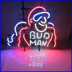 Bud Man Budweiser Beer Classic Vintage Neon Lit Bar Sign Gotta Have Spectacular