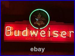 Budweiser Beer Neon Light up Sign Eagle 30 bar Anheuser Busch Vintage Rare