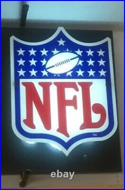 COORS LIGHT Beer Neon Sign NFL Badge Game Bar Room Official Sponsor Vintage Rare