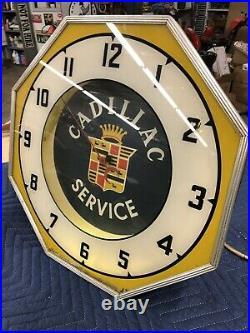 Cadillac Service clock Vintage sign neon old dealer original 1940s and 1950s