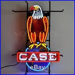 Case Eagle American Farm Harvester Vintage Neon Sign 26x18