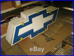 Chevrolet Vintage NEON Blue GM Bowtie Large 60 x 24 x 11