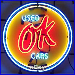 Chevrolet Vintage Ok Used Cars Neon Sign 5CHVOK Man Cave Garage Wall Art New
