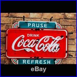 Classic Ice Coke Coca Cola Board Vintage Neon Sign Beer Bar Wall Window Decor