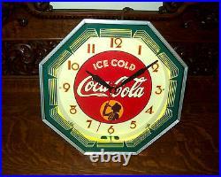 Coca Cola Neon Clock Professionally Restored! Vintage Sign