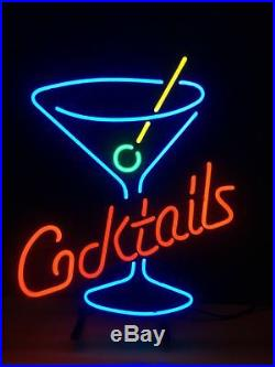 Cocktail Cup Wall Gift Neon Sign Boutique Vintage Store Custom Porcelain Beer