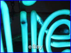 Coolest color VINTAGE CERVEZA BURGIE! NEON SIGN 22.5 x 14.5 x 5