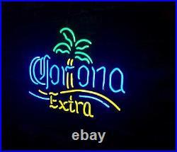 Corona Extra Palm Tree Neon Sign Light Vintage Artwork Bar Boutique Pub Club