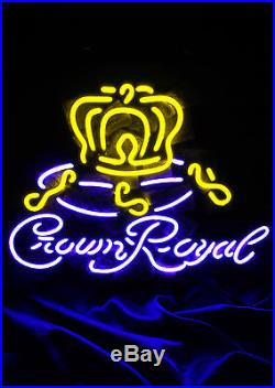 Crown Royal Neon Sign Night Club Pub Beer Bar Man Cave Canteen Vintage Store