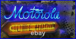EXTREMELY RARE VINTAGE 1930s MOTOROLA HOME RADIO NEON SIGN