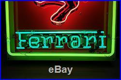 Ferrari Neon Dealership sign. Vintage Steel Enamel neon ART. HUGE 47 by 26