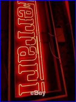 Ferrari Neon Sign Dealer Vintage HUGE Real Gas Real Transformer, Real bright