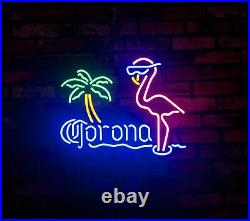 Flamingo Corona Neon Signs Vintage Shop Bar Room Pub Display Neon Light 16X12