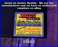 Front of Vintage Car Neon Sign Jantec 32 x 24 Body Shop Antique Store
