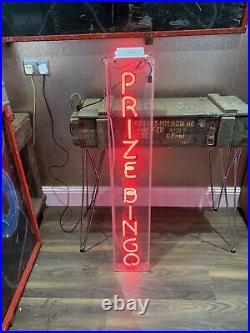 Genuine Vintage Amusement Arcade Neon Sign'Prize Bingo