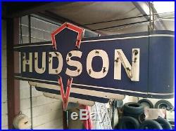 HUDSON CAR SALES AUTO DEALER NEON STYLE BANNER VINTAGE SIGN GARAGE ART 6.5 feet