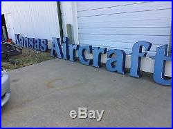 HUGE Vintage KANSAS AIRCRAFT Neon Sign 32' L 31 And 24 Tall Letters Complete
