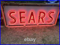 HUGE Vintage Sears NEON Sign from Closed Sears Store nice original sign