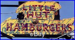 Hamburger Vintage Neon Sign Hand Colored Photo Restaurant Art Fast Food Decor