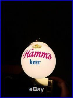 Hamm's beer sign vintage back bar lighted globe Shelf sconce light lamp neon