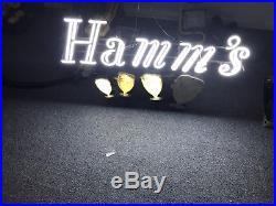 Hamms Beer Dancing Mugs Neon Sign Motion Light Bear Sign Goblets Vintage Rare