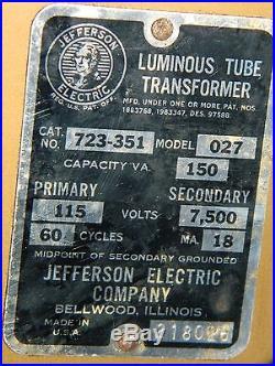 Hard to Find Vintage Budweiser Beer Brewery Neon Sign All Original & Working
