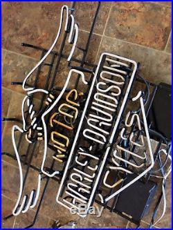 Harley-Davidson Vintage/Antique Neon Sign Does NOT Light Up