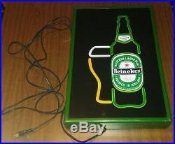 Heineken vintage fluorescent sign beer rare neon