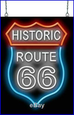 Historic Route 66 Neon Sign Jantec 18 x 24 Antique Vintage Garage 50's