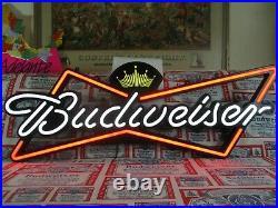 Huge New Vtg 2011 Budweiser Beer Logo In Motion Led Neon Bar Light Pub Sign Wow