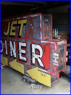 Huge Vintage Original 1950's JET DINER Neon Sign, Marcy NY, Oneida Co. 10ft